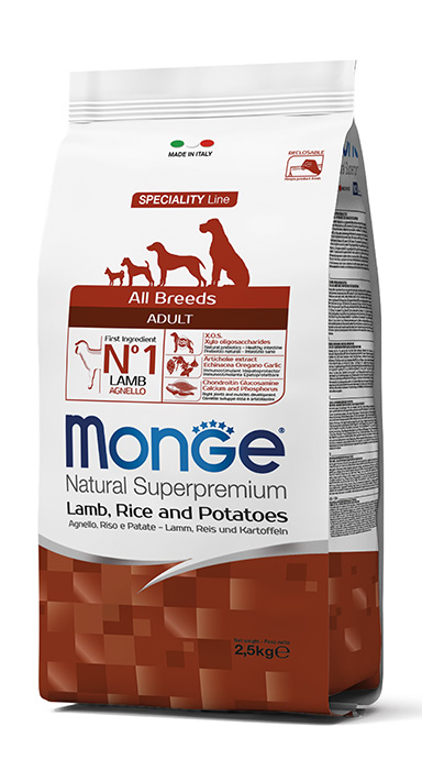 Monge Dog Speciality All Breeds Adult Lamb, Rice and Potatoes
