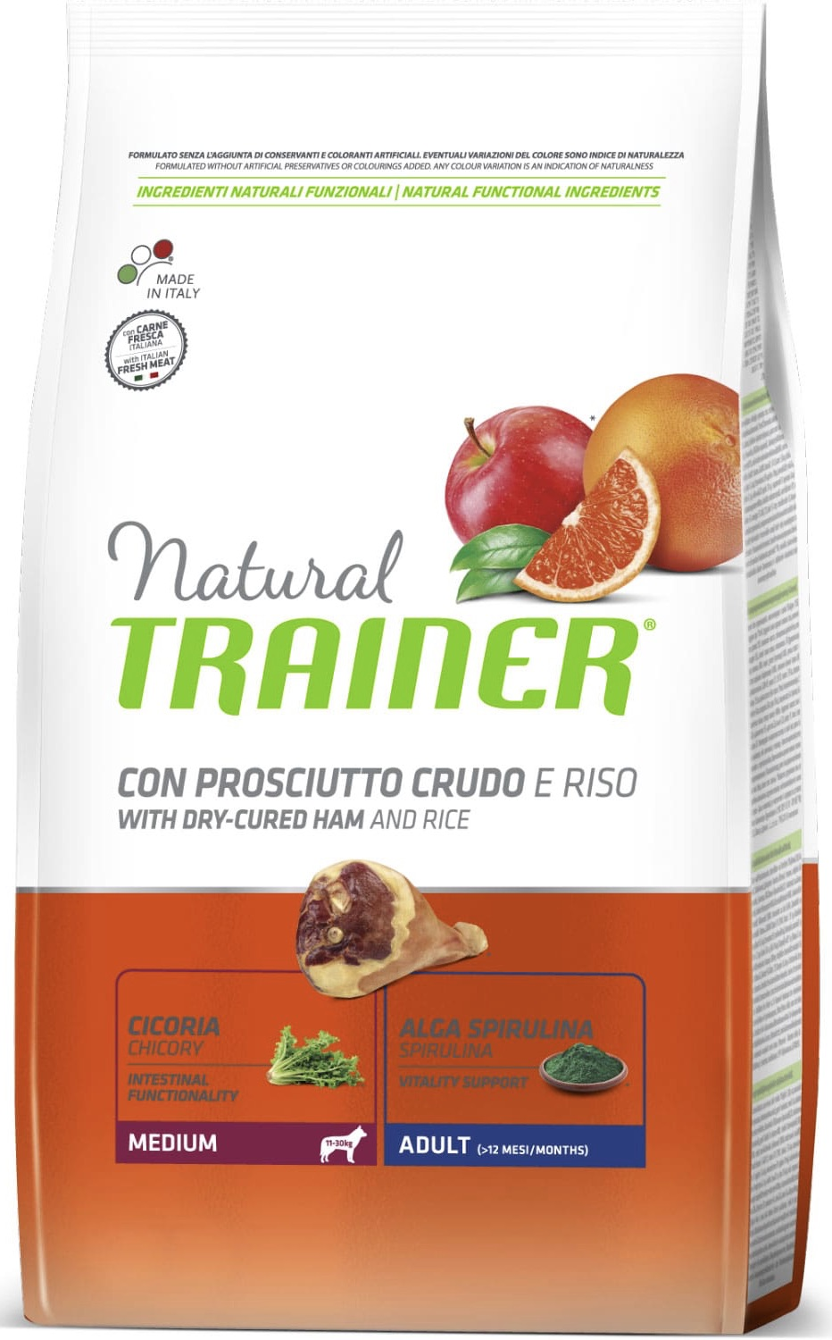 Trainer Natural Dog Medium Adult - Dry-Cured Ham and Rice