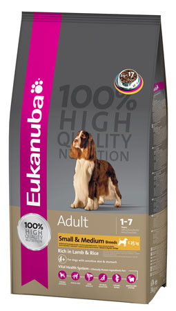 Eukanuba Adult Small & Medium breed rich in Lamb & Rice